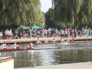 Boat Race on the River Avon at Stratford